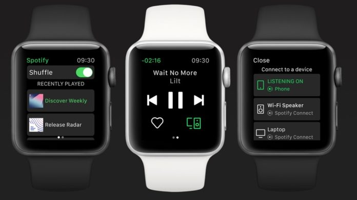 Spotify на Apple Watch