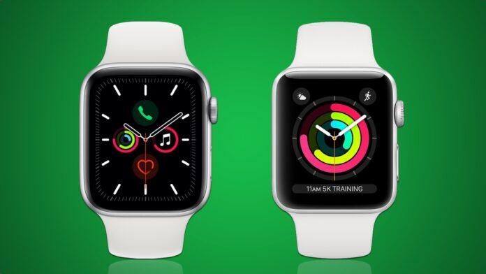 Apple Watch Series 5 в Series 3